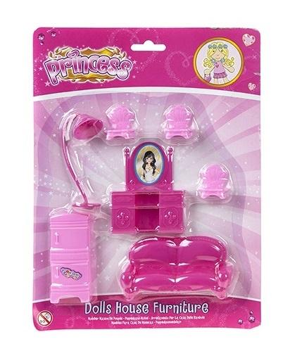 Kamparo poppenhuis meubilair roze (slaapkamer)