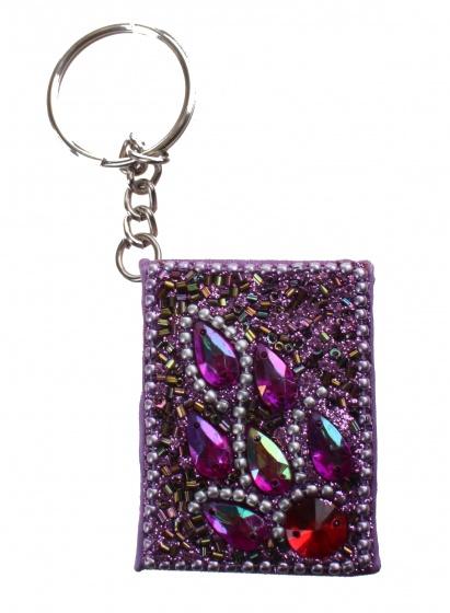 Kamparo sleutelhanger met memoboekje donkerroze 4 cm
