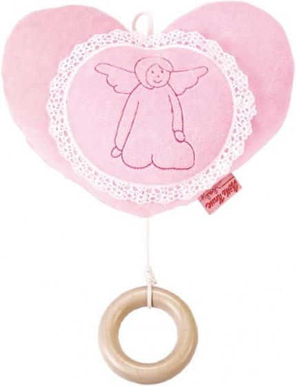 K�the Kruse muziekknuffel hartje 20 cm roze