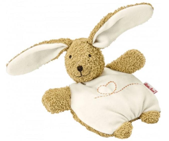 Kathe Kruse warmtekussen konijn bruin 27 cm
