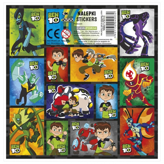 stickervel Ben 10 12-delig