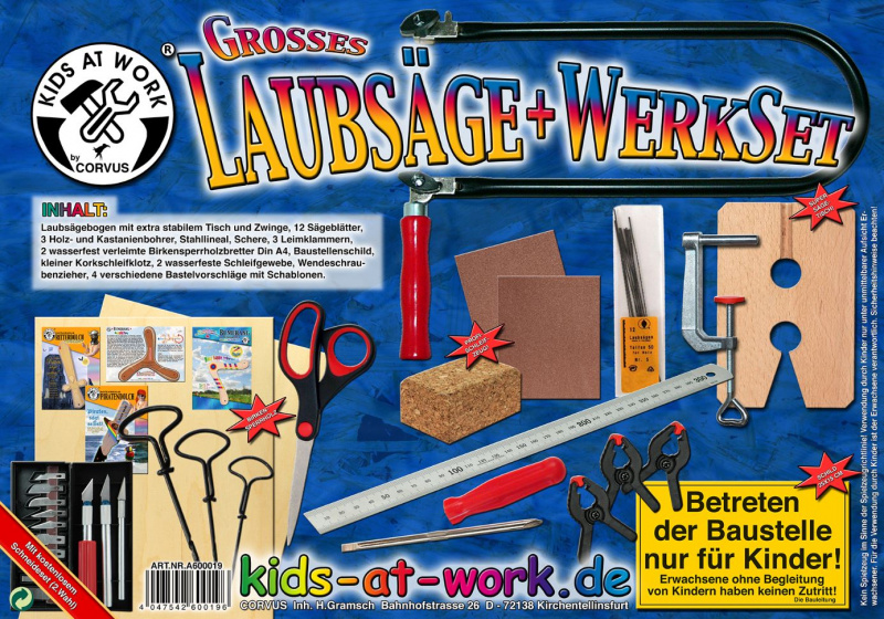 Kids At Work figuurzaagset junior 30 delig
