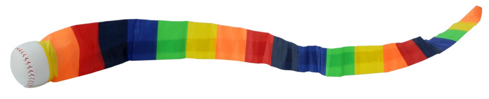 Kids At Work werpbal junior 6,5 cm kunstleer/polyester