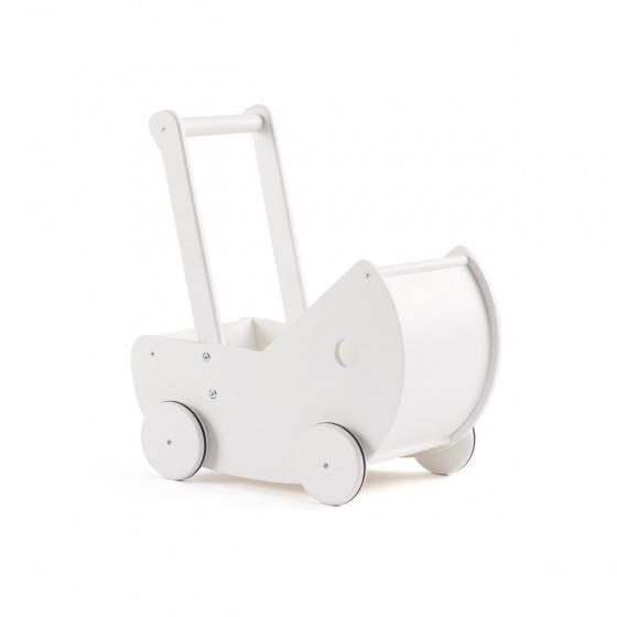 Kid's Concept houten poppenwagen 46,5 cm wit 3 delig