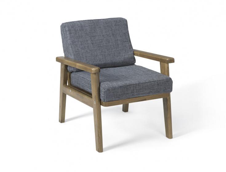 Kid's Concept stoel Lounge junior 40 x 40 x 35 cm hout bruin-blauw