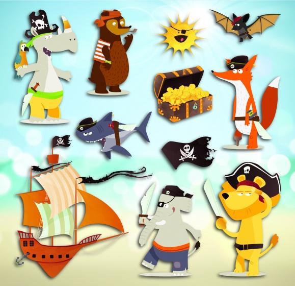 Kids Decor muurdecoratie 3 levels Piraten junior
