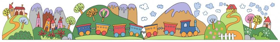 Kids Decor muurdecoratie border Little Train junior