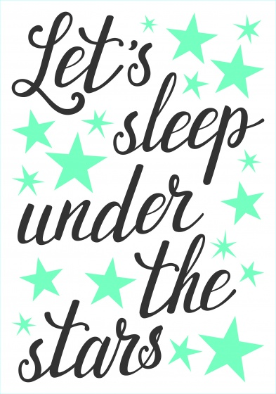 Kids Decor muursticker Let's Sleep junior 47 x 70 cm
