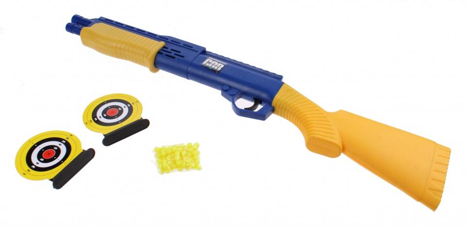 Kids Fun balletjes geweer 46 cm blauw/geel