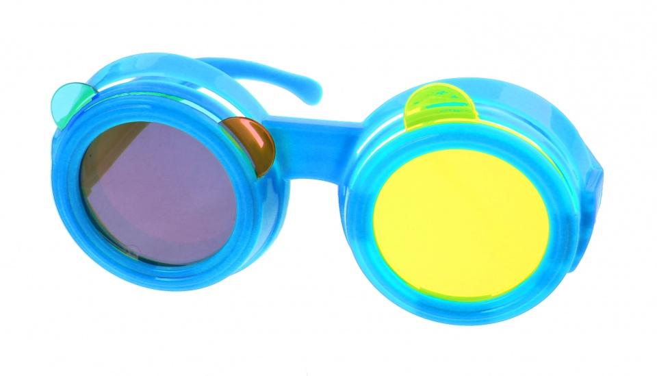 Kids Fun Gekleurde bril blauw
