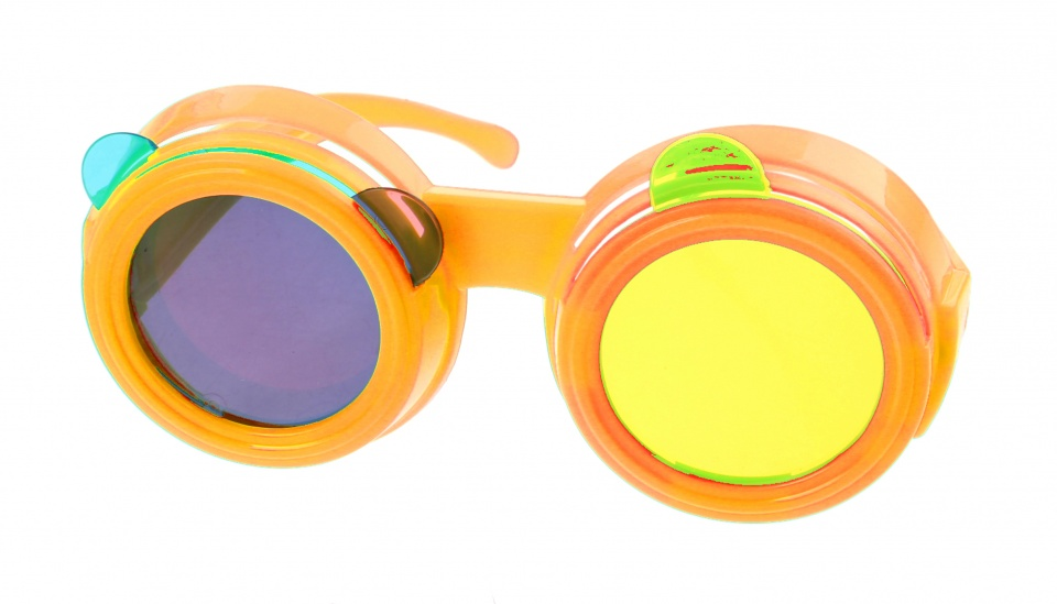 Kids Fun Gekleurde bril oranje