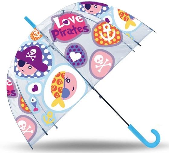 Kids Licensing paraplu Love Pirates 48 cm polyester