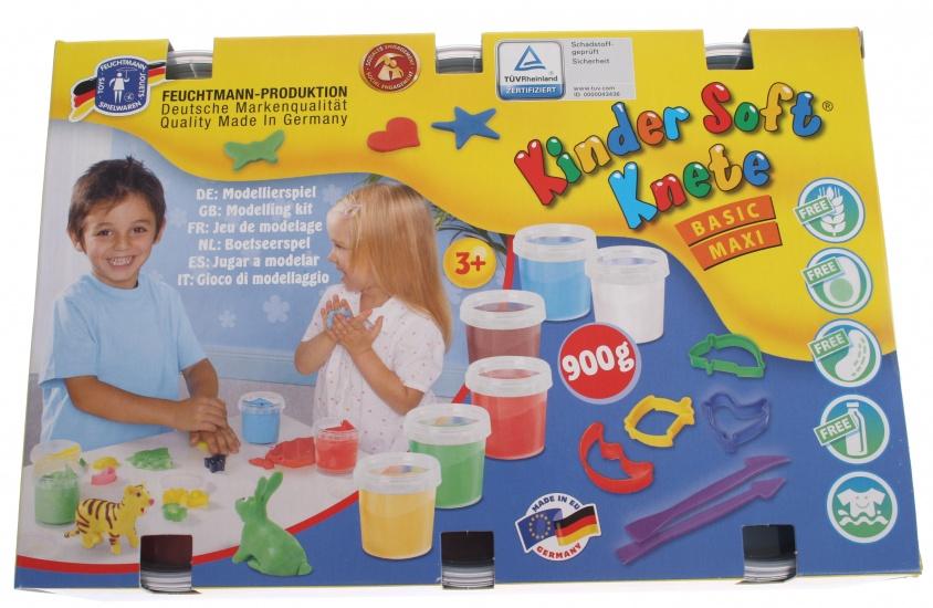 Feuchtmann Kinder Soft Knete Basic Maxi 6 x 150 gram
