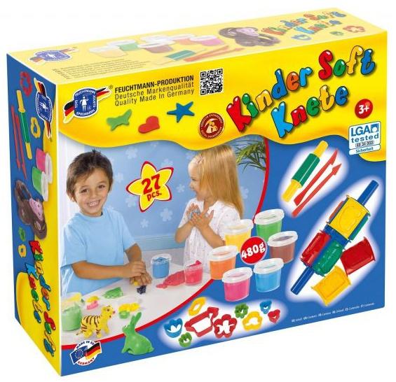 Feuchtmann Kinder Soft Knete Creative Box Klei 6 x 80 gram