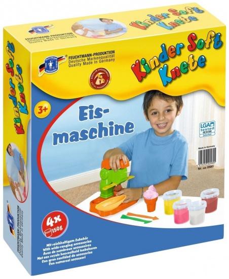 Feuchtmann Kinder Soft Knete Klei IJsmachine 4 x 150 gram