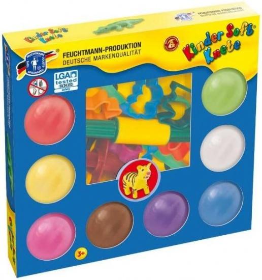 Feuchtmann Kinder Soft Knete Maxi Creative Set 8 x 80 gram