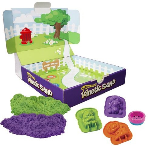 Kinetic Sand Doggy speelzand 340 gram groen/paars