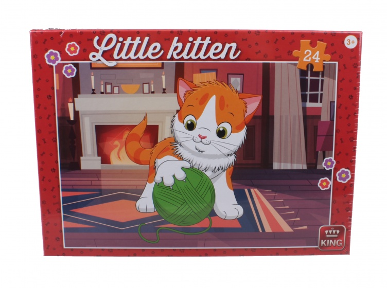 King kinderpuzzel Little Kitten With Wool 24 stuks