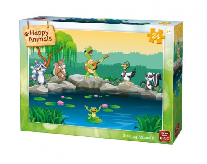 King kinderpuzzel Singing Animals 24 stuks
