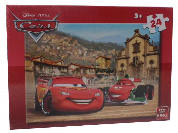 King legpuzzel 24 stukjes Disney Cars