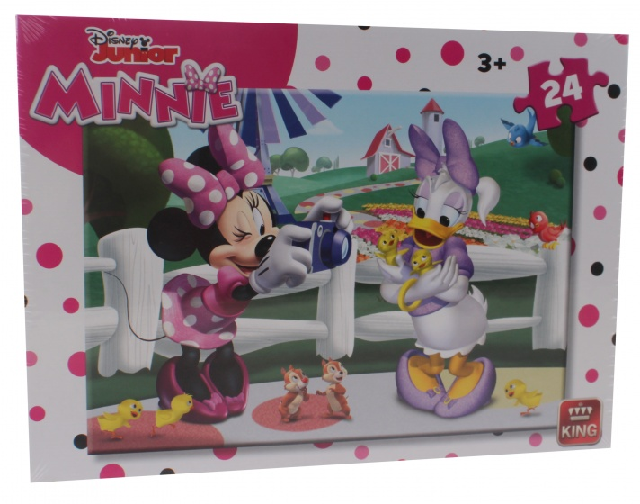 King legpuzzel 24 stukjes Minnie Mouse