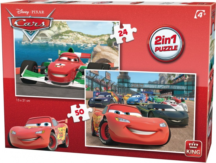 King Legpuzzel 2 In 1 Disney Cars