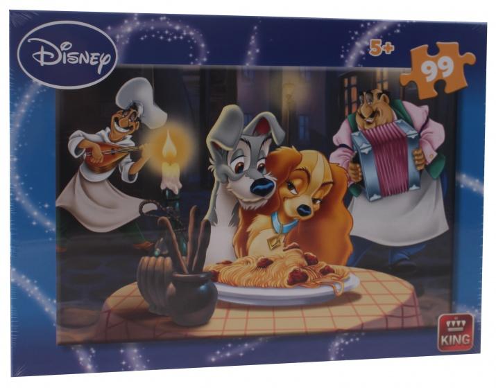 King legpuzzel 99 stukjes Disney Lady en de Vagebond