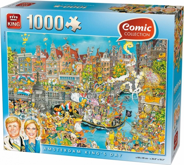 King legpuzzel Amsterdam King's Day 1000 stukjes