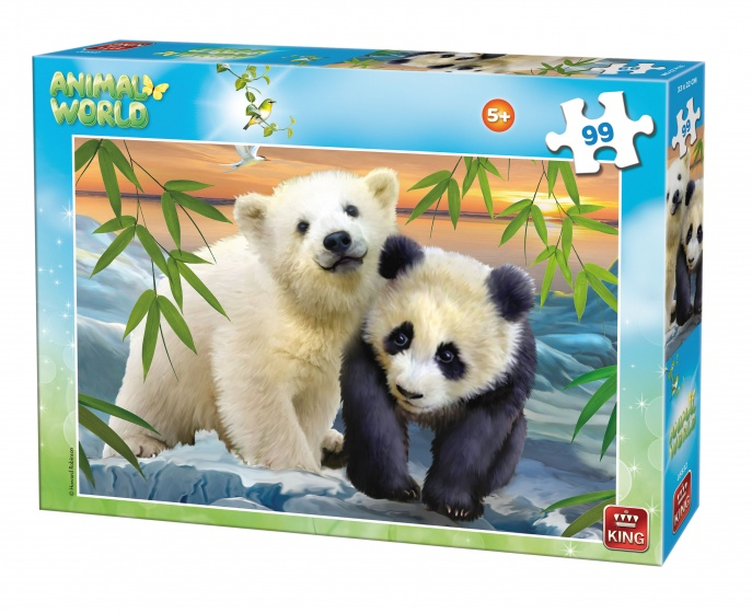 King legpuzzel Animal World Beren 99 stukjes