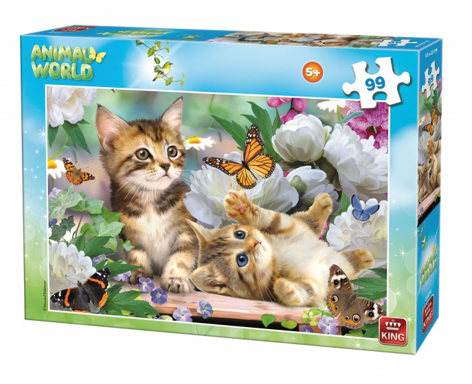 King legpuzzel Animal World Kittens 99 stukjes