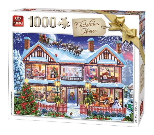 King Legpuzzel Christmas House 1000 Stukjes