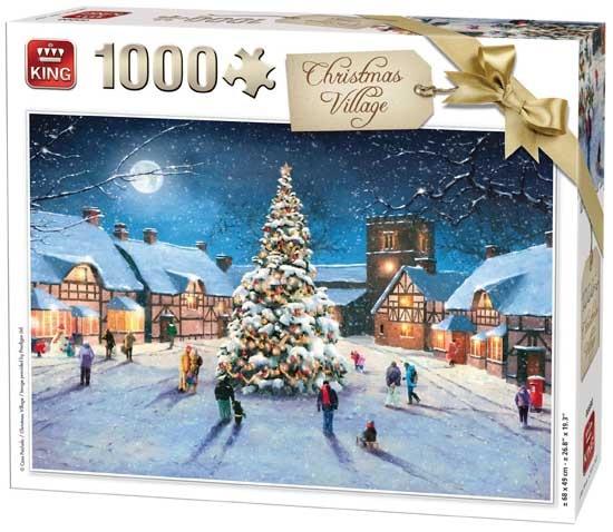 King legpuzzel Christmas Village 1000 stukjes