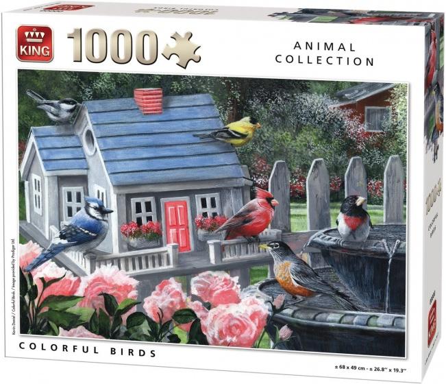 King legpuzzel Colorful Birds 1000 stukjes