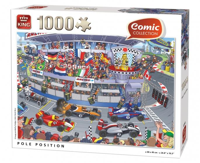 King Legpuzzel Comic Collection racebaan 1000 stukjes