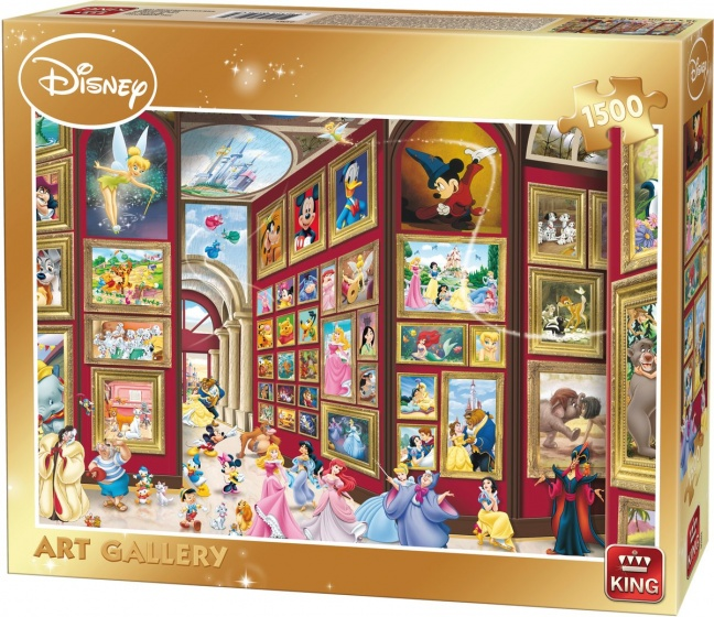 king jigsaw puzzle disney art gallery 1500 pieces. Black Bedroom Furniture Sets. Home Design Ideas