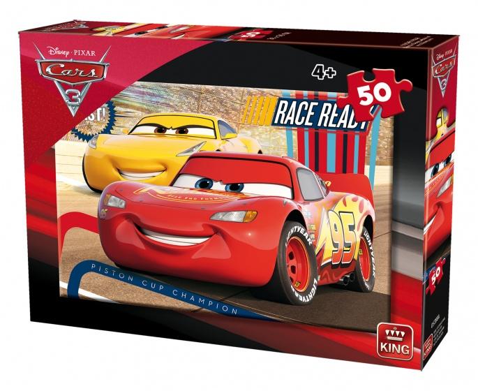 King legpuzzel Disney Cars 3 rood/geel 50 stukjes