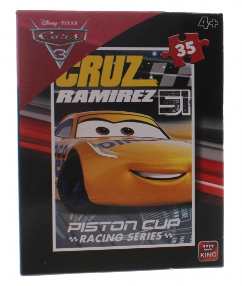 King legpuzzel Disney Cars 3 Cruz Ramirez 35 stukjes