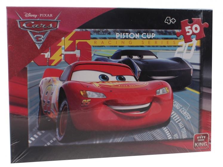 King legpuzzel Disney Cars Piston Cup 50 stukjes