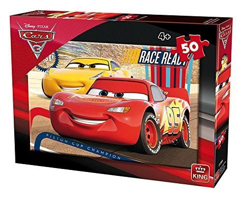 King legpuzzel Disney Cars Race Ready 50 stukjes