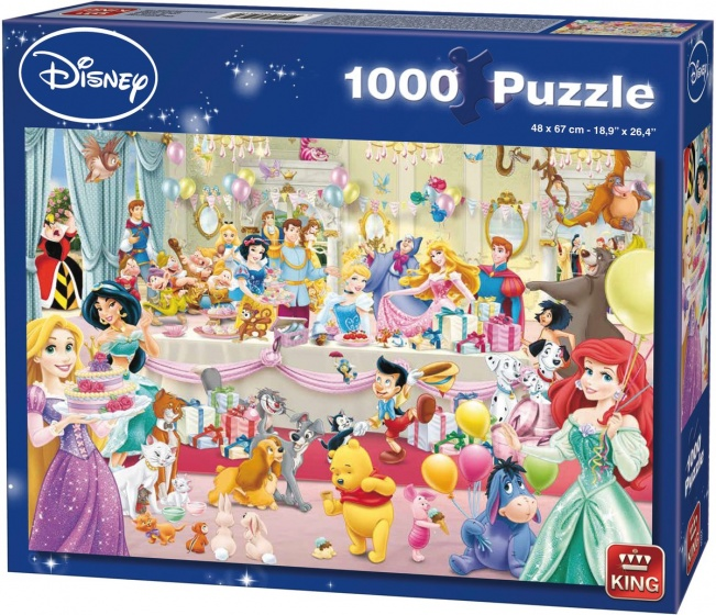 King legpuzzel Disney Happy Birthday 1000 stukjes