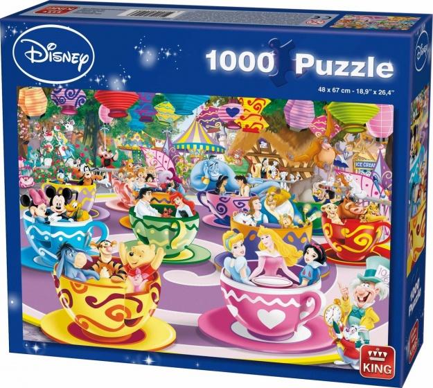 King legpuzzel Disney Mad Tea Cups 1000 stukjes