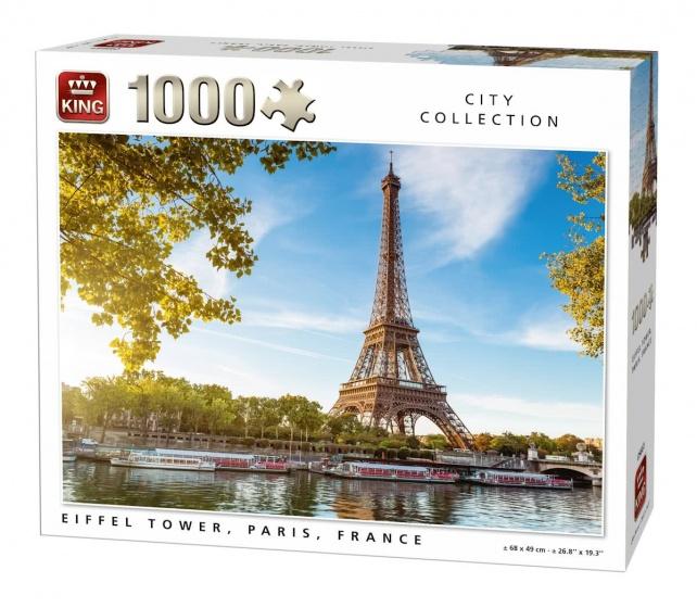 King legpuzzel Eiffel Tower, Paris, France 1000 stukjes