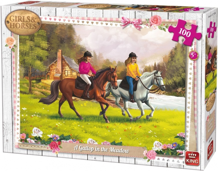 King legpuzzel Gallop in The Meadow 100 stukjes