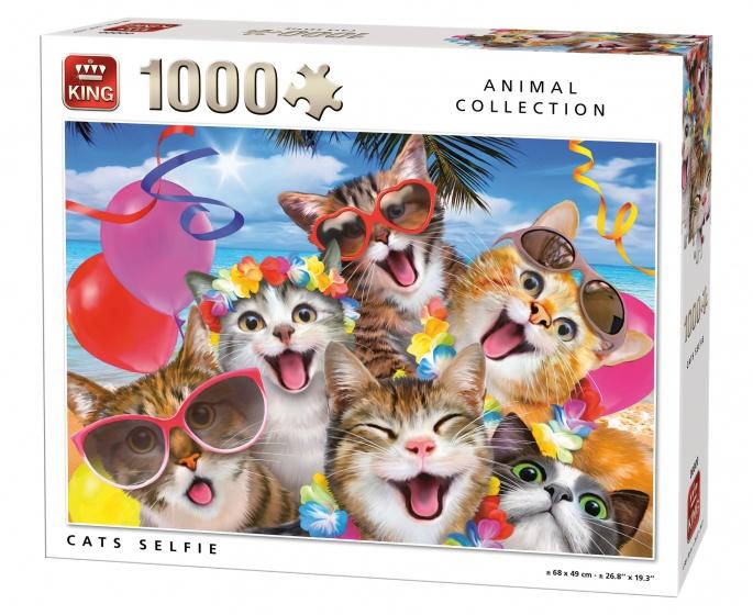 King Legpuzzel Katten Selfie 1000 Stukjes