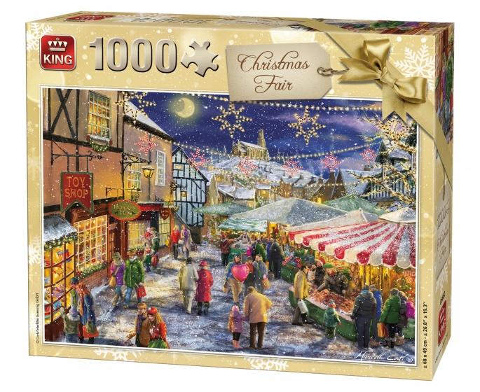 King Legpuzzel Kerstmarkt 1000 Stukjes