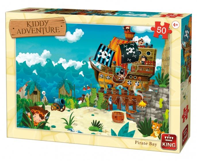 King legpuzzel Kiddy Adventure Pirate Bay 50 stuks