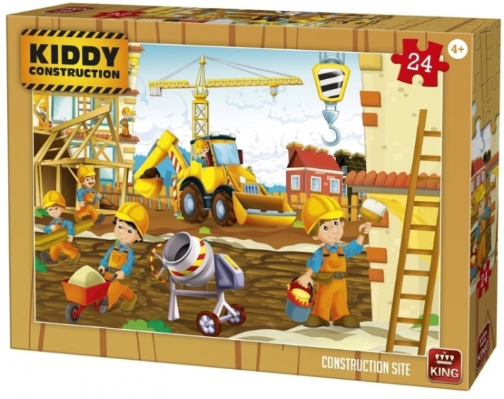 King legpuzzel Kiddy Constructions construction site 24 st