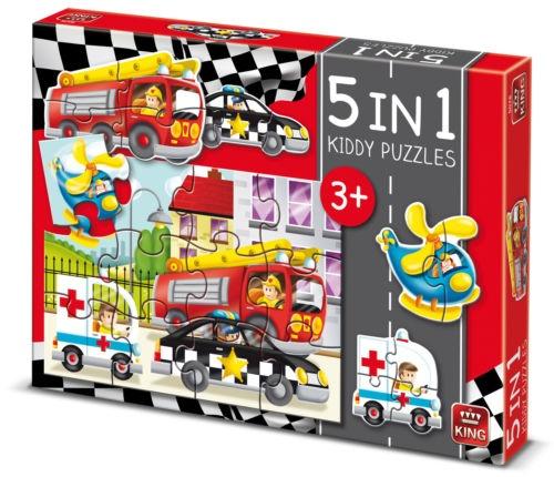 5-in-1 puzzel met SOS voertuigen