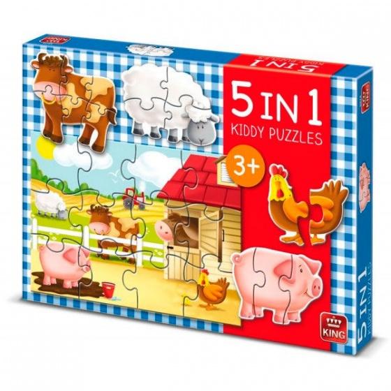 5-In-1 boerderij puzzel