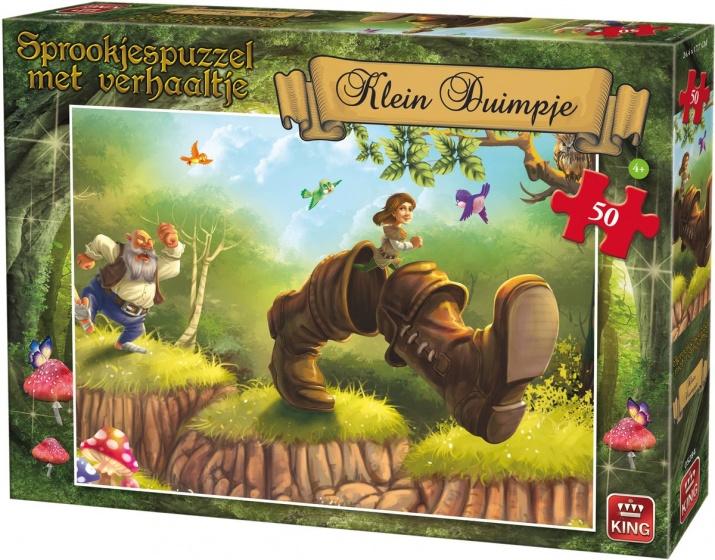 King legpuzzel Klein Duimpje met verhaal 50 stukjes